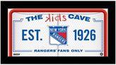 """Steiner Sports New York Rangers 10"""" x 20"""" Kids Cave Sign"""