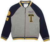 True Religion Heather Gray & Navy 'Outlaws' Varsity Jacket - Toddler & Boys