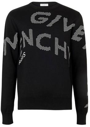 Givenchy Oversized logo coton crew knitwear