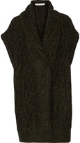 Alice + Olivia Darryl wrap-effect knitted sweater