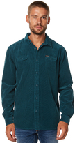 The Critical Slide Society Lazy Bones Ls Mens Corduroy Shirt Blue