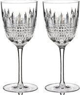Waterford Stemware Lismore Diamond Wine Glasses, Set of 2