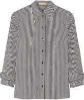 Michael Kors Striped cotton-blend poplin shirt