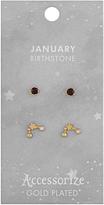 Accessorize January Birthstone Earrings