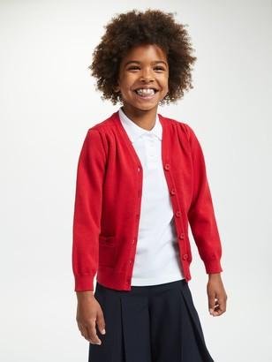 John Lewis & Partners Cotton Rich V-Neck School Cardigan
