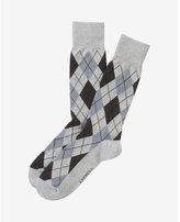 Express Argyle Print Dress Socks