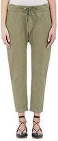 Frame Women's Panel Cotton Pants-GREEN, DARK GREEN