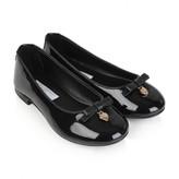 Dolce & Gabbana Dolce & GabbanaGirls Black Patent Leather Ballerinas With Bow