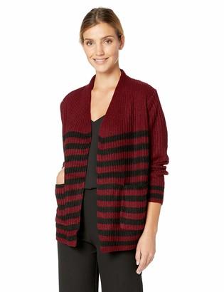 Jason Maxwell Women's Striped Cardigan Sweater