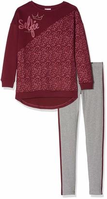 Brums Girl's Completo 2 Pezzi Top Felpa Bicolore E Leggings Clothing Set
