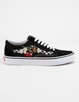 Vans Checker Floral Old Skool Womens Shoes
