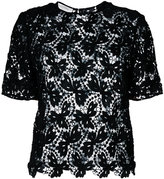 Valentino lace top - women - Cotton/Polyester/Polyamide - 40