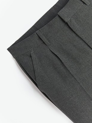 Very Boys 2 Pack Classic Woven Plus School Trousers - Grey