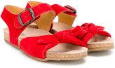 Pépé buckled sandals - kids - Leather/Suede/rubber - 24