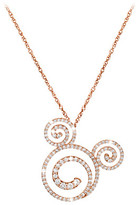 Disney Diamond Swirl Mickey Mouse Necklace - 18K