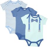 Cutie Pie Baby Aqua Suspenders & Blue Pin Dot Bodysuit Set - Infant