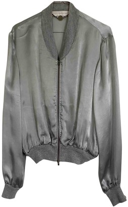 Stella McCartney Silver Viscose Leather jackets