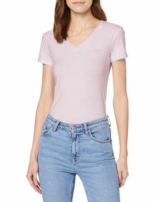 GUESS Women's Ss Vn Mini Triangle T-Shirt