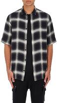 Helmut Lang Men's Ombré Plaid Flannel Short-Sleeve Shirt