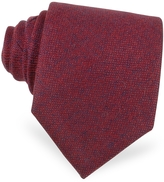 Forzieri Red Cashmere Extra-Long Tie