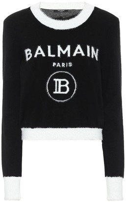 Balmain Logo wool-blend sweater