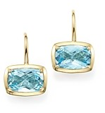 Bloomingdale's Blue Topaz Drop Earrings in 14K Yellow Gold - 100% Exclusive