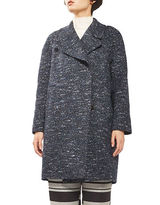Topshop Double-Breasted Cocoon Coat