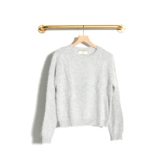 Le Mont Saint Michel - Santia Angora rounded neck sweater Grey - l | grey - Grey/Grey