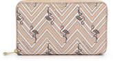 Henri Bendel West 57th Printed XL Zip Around Continental Wallet