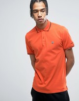 Love Moschino Tipped Polo Shirt With Chest Logo
