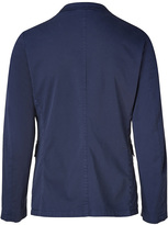 Jil Sander Blue Stretch Cotton Blazer