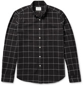 Steven Alan - Button-down Collar Windowpane-checked Brushed-cotton Shirt