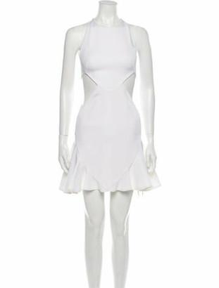 Cushnie Crew Neck Mini Dress w/ Tags White