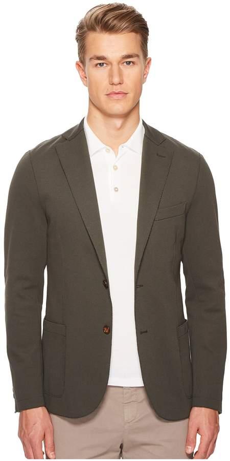 Eleventy Laser Cut Jersey Blazer Men's Clothing