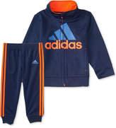 adidas 2-Pc. Amplified Net Embossed Jacket & Pants Set, Toddler Boys