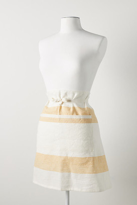Anthropologie Hillstead Half Apron By in Yellow Size ADULT