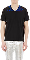 Maison Margiela Men's Special-Edition AIDS T-Shirt-BLACK, BLUE, NO COLOR