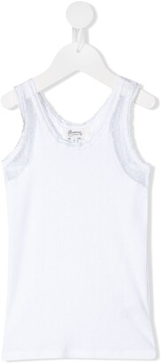 Bonpoint Lace-Trimmed Jersey Tank