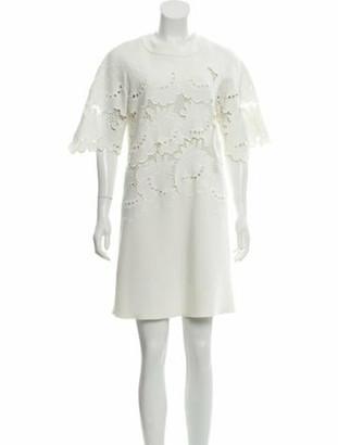 Victoria Victoria Beckham Short Sleeve Mini Dress
