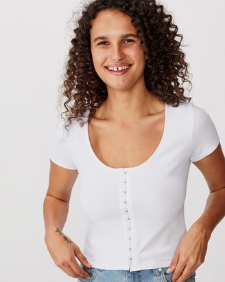 Cotton On Bethany Short Sleeve Scoop Tee