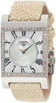 """Swisstek SK47742L Limited Edition Swiss Pink Diamond Watch With Mother-Of-Pearl Dial, Genuine Stingray """"Galuchat"""" Strap And Sapphire Crystal"""