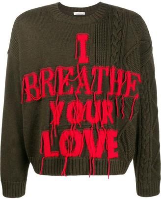 Valentino I breathe your love jumper
