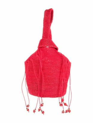 Sensi Straw Handle Bag Red