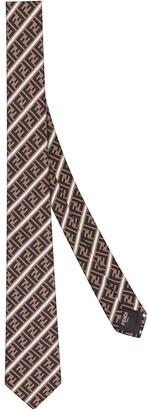 Fendi FF striped neck tie
