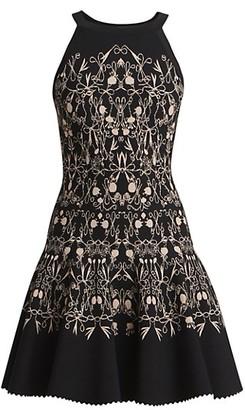 Alaia Closerie Bow Flower Halterneck Dress