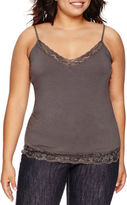 Arizona Lace-Trim Cami - Juniors Plus