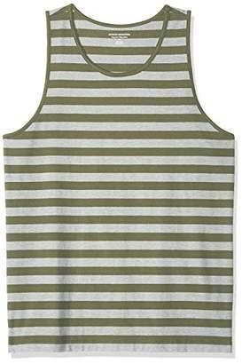 Amazon Essentials Regular-fit Ringer Tank Top T-Shirt, /White, (EU S)