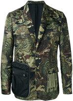Givenchy camouflage print blazer - men - Polyamide/Polyester/Viscose - 50