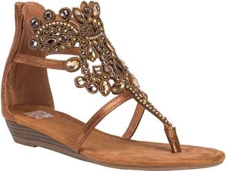 Muk Luks Thong Wedge Sandals - Athena