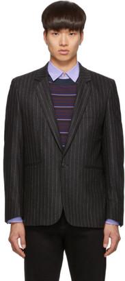 Paul Smith Grey Wool Pinstripe Blazer